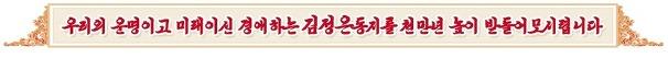 """북한 김정은 우상화 본격화? """"김정은은 민족의 태양"""" 구호 등장"""