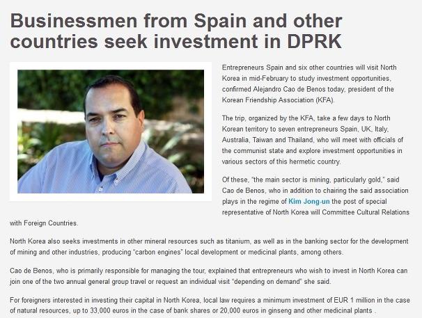 6개국 투자단 2월 방북 금광-티타늄 개발 투자 논의